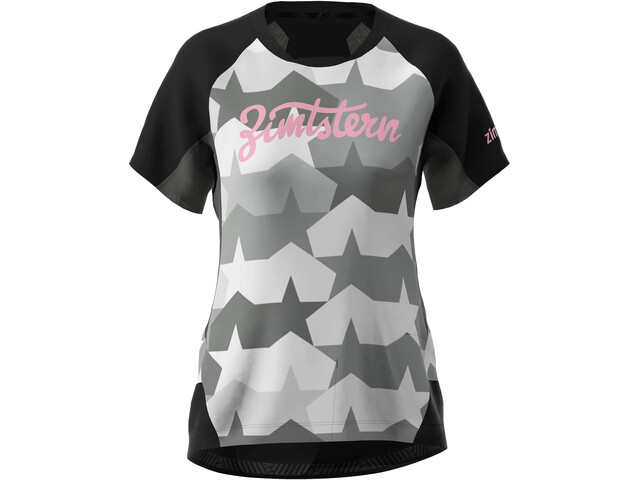 Zimtstern TechZonez T-shirt Dames, pirate black/gun metal/blush